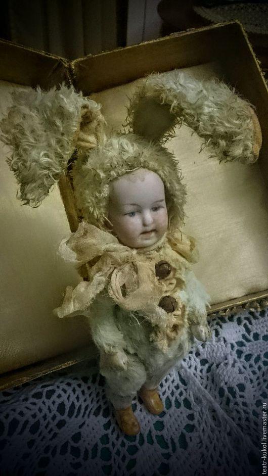 Коллекционные куклы ручной работы. Ярмарка Мастеров - ручная работа. Купить Зай- куколка коллекционная. Handmade. Салатовый, фарфор