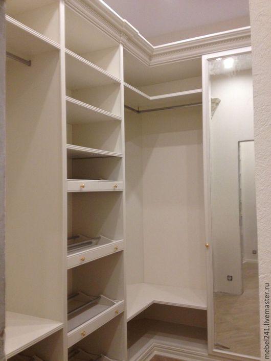 Мебель ручной работы. Ярмарка Мастеров - ручная работа. Купить Гардеробные комнаты из мдф в классическом стиле. Handmade. Гардеробная