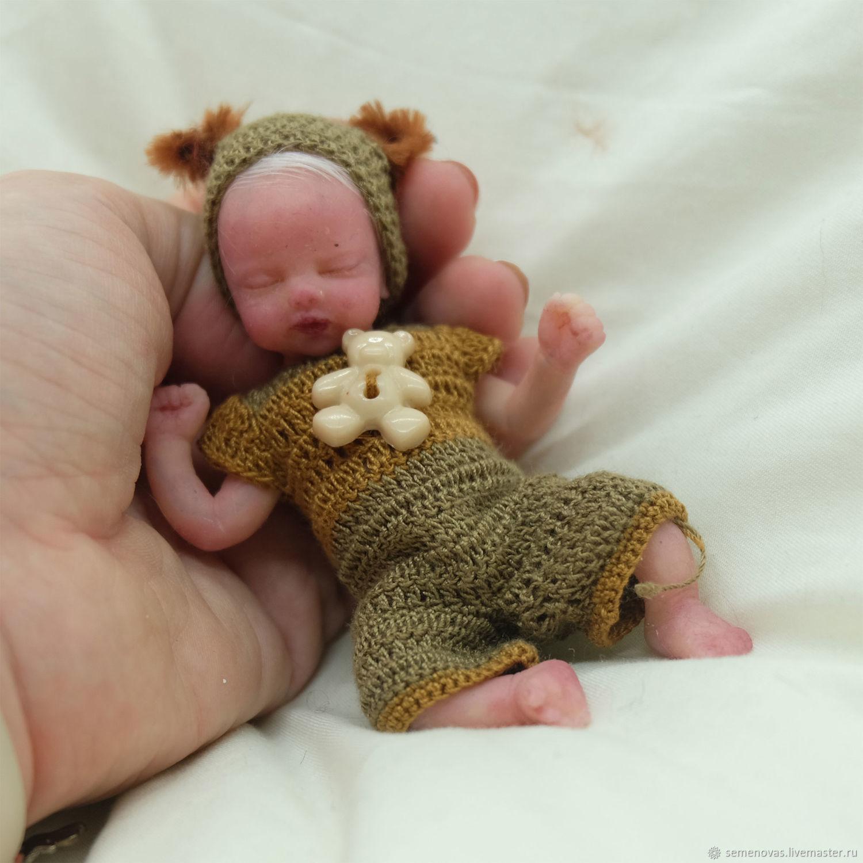 Полностью силиконовый малыш 11 см, Куклы Reborn, Москва,  Фото №1