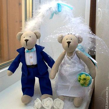 Куклы и игрушки ручной работы. Ярмарка Мастеров - ручная работа свадебные мишки Тильды. Handmade.