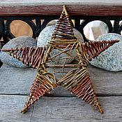 Для дома и интерьера ручной работы. Ярмарка Мастеров - ручная работа Рождественская звезда из ивовой лозы. Handmade.