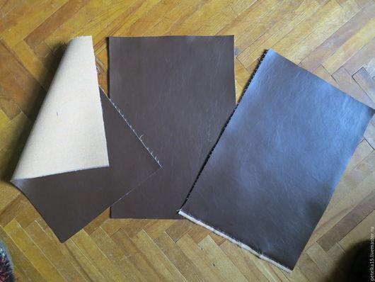 Шитье ручной работы. Ярмарка Мастеров - ручная работа. Купить листы экокожи №93 коричневый темный. Handmade. Кожа