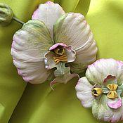 Комплекты украшений ручной работы. Ярмарка Мастеров - ручная работа Орхидея из кожи. Handmade.