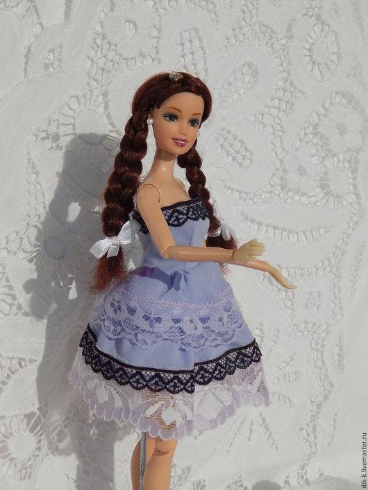 """Одежда для кукол ручной работы. Ярмарка Мастеров - ручная работа. Купить Платье для Барби """"Сиреневое"""". Handmade. Сиреневый, кукольная одежда"""