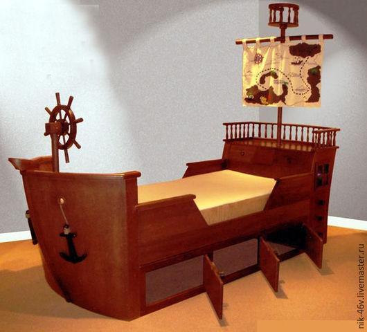 Этот корабль-кроватка не только доставит радость вашему ребенку и вашей семье, но и украсит интерьер детской своей неповторимостью и функциональностью