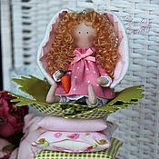 Куклы и игрушки ручной работы. Ярмарка Мастеров - ручная работа Текстильная куколка Зая. Handmade.