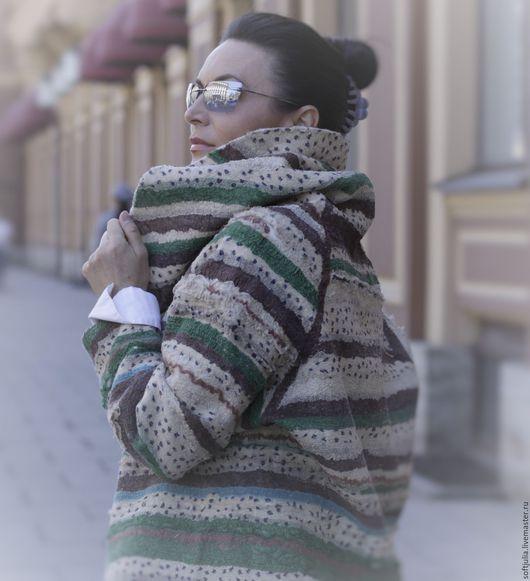 """Пиджаки, жакеты ручной работы. Ярмарка Мастеров - ручная работа. Купить Валяный жакет """"Тоскана"""" (техника валяный квилт). Handmade."""