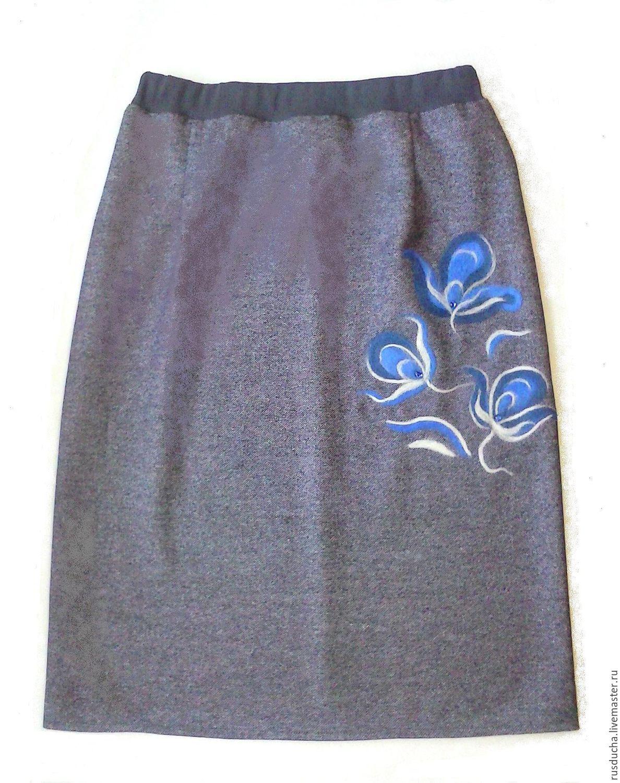 Прямой юбки размер 54