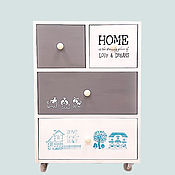 Для дома и интерьера handmade. Livemaster - original item Chest of drawers for baby room, baby room for newborn made of wood Home. Handmade.