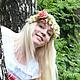 Цветы ручной работы. Венок на голову. Flower mood      (Марина Рудакова). Ярмарка Мастеров. Венок с цветами, веночек ободок