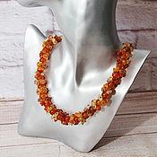 Украшения handmade. Livemaster - original item Beads with carnelian