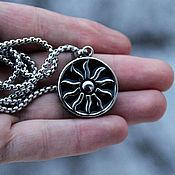 Украшения handmade. Livemaster - original item Talisman/Pendant Sun of steel. Handmade.