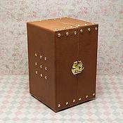 Куклы и игрушки ручной работы. Ярмарка Мастеров - ручная работа Шкаф-чемодан кукольный КОРИЦА. Handmade.