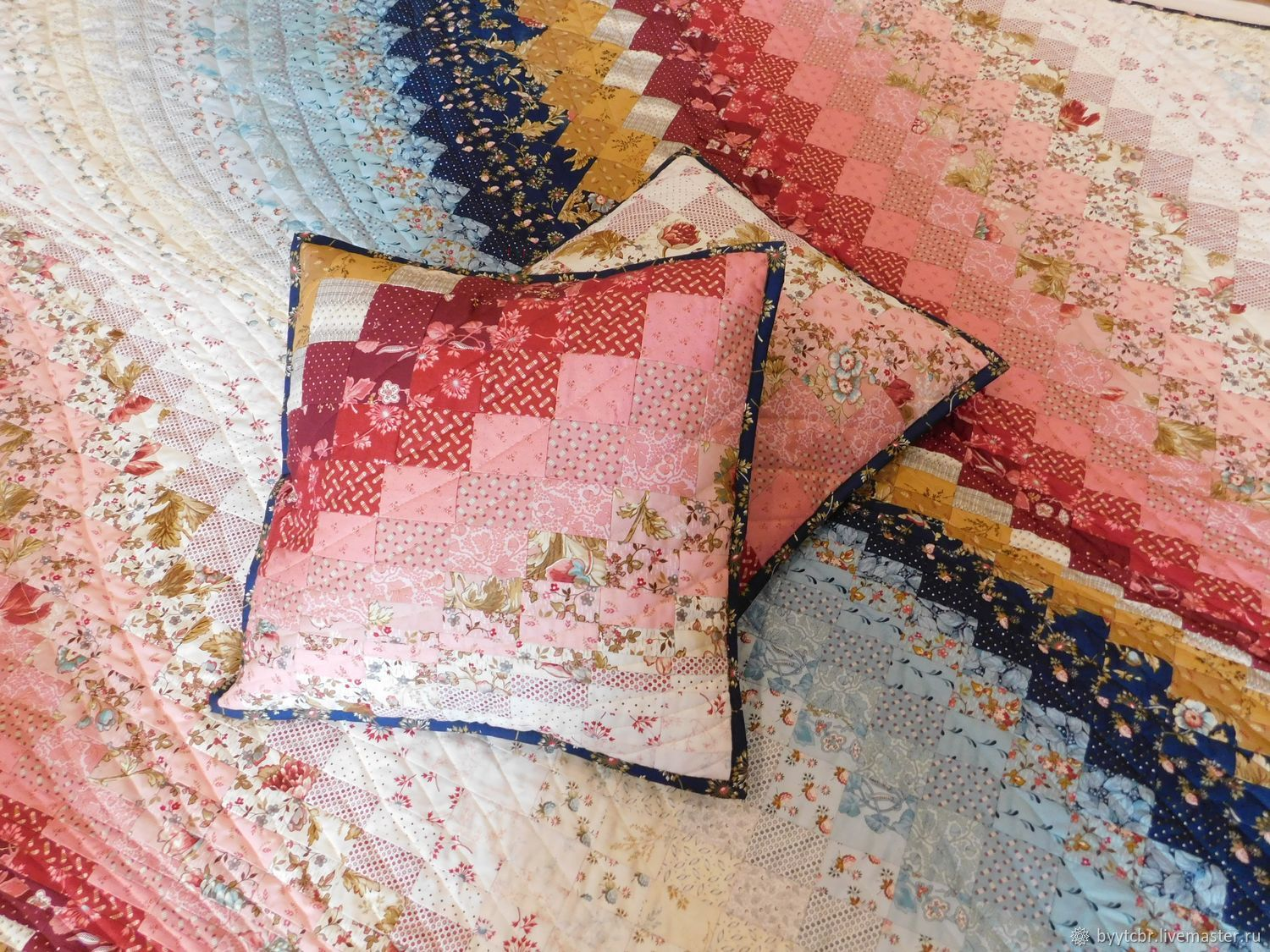 Patchwork quilt SONG (small) patchwork quilt, Blanket, Moscow,  Фото №1