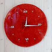 """Для дома и интерьера ручной работы. Ярмарка Мастеров - ручная работа Настенные часы """"Спелый гранат"""" сделана на заказ. Handmade."""