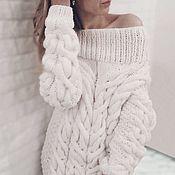 Одежда handmade. Livemaster - original item White dress with open shoulders. Handmade.