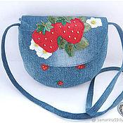 Bags handmade. Livemaster - original item Children`s handbag girl`s shoulder bag strawberry bag for phone. Handmade.