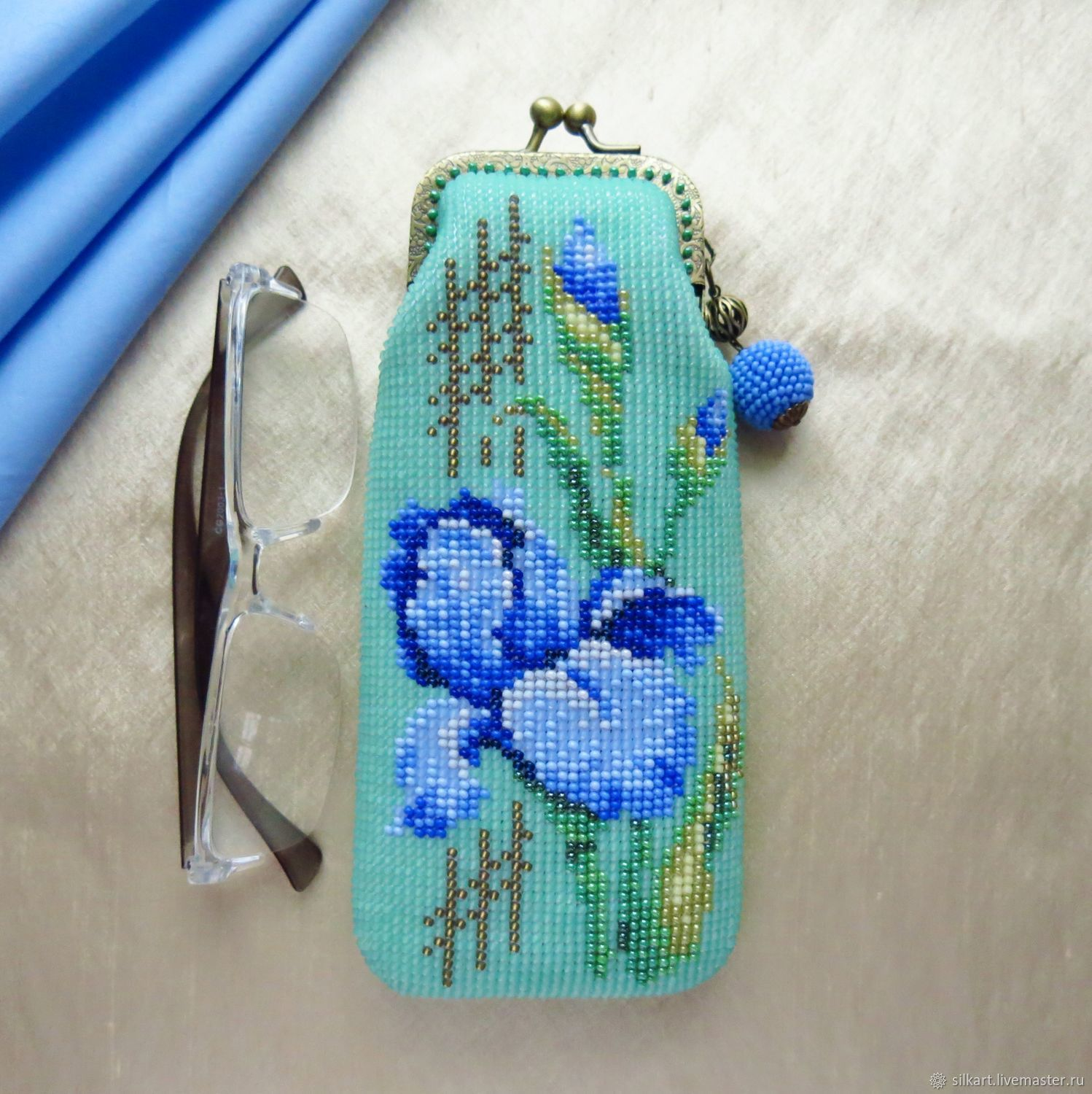 beaded Irises, Eyeglass case, Zheleznodorozhny,  Фото №1