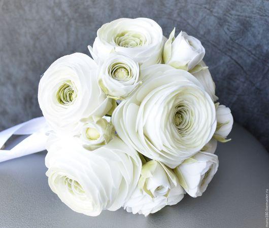 """Свадебные цветы ручной работы. Ярмарка Мастеров - ручная работа. Купить Свадебный букет """"Нежность"""". Handmade. Белый, свадебные цветы"""