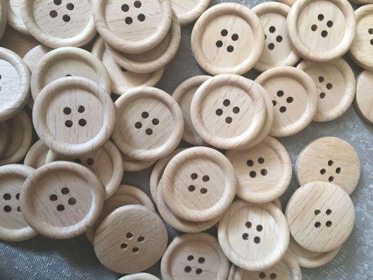 Шитье ручной работы. Ярмарка Мастеров - ручная работа. Купить Пуговицы деревянные эко. Handmade. Пуговица, пуговицы для декора