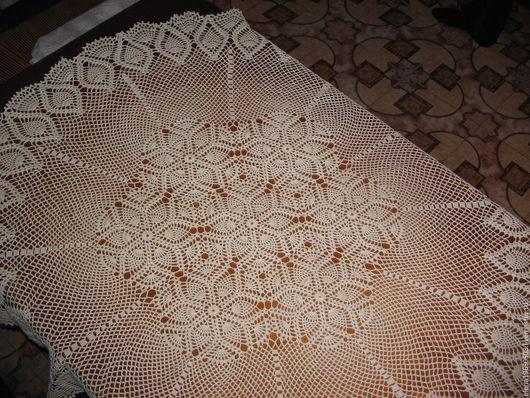 Текстиль, ковры ручной работы. Ярмарка Мастеров - ручная работа. Купить Скатерть  крючком. Handmade. Скатерть купить, скатерть на стол