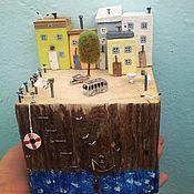 Для дома и интерьера handmade. Livemaster - original item Driftwood cottages village Manarola. Handmade.