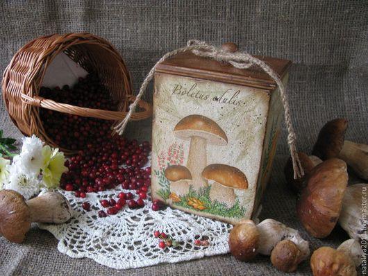 """Корзины, коробы ручной работы. Ярмарка Мастеров - ручная работа. Купить """"Грибное лукошко""""-Короб. Handmade. Короб, короб для кухни"""