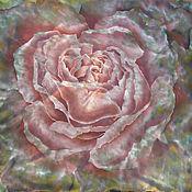 Аксессуары handmade. Livemaster - original item # Dusty Rose Handkerchief Batik Natural Silk Satin 100%. Handmade.