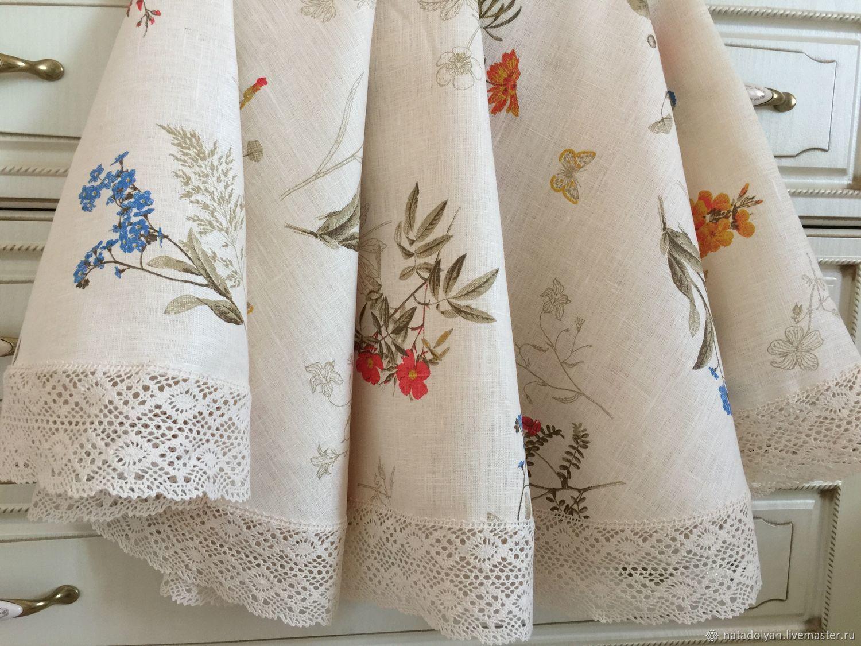 """Скатерть льняная """"Цветущий луг """", Tablecloths, Ivanovo,  Фото №1"""