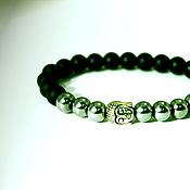Украшения handmade. Livemaster - original item Buddha bracelet, made of natural hematite and shungite.. Handmade.
