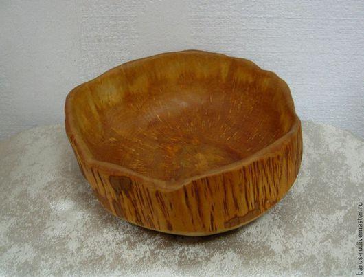 Тарелки ручной работы. Ярмарка Мастеров - ручная работа. Купить Чаша (миска) из карельской березы. Handmade. Чаша, кухонная утварь