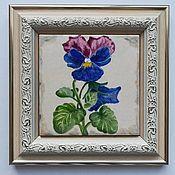Картины ручной работы. Ярмарка Мастеров - ручная работа Миниатюра цветок. Handmade.