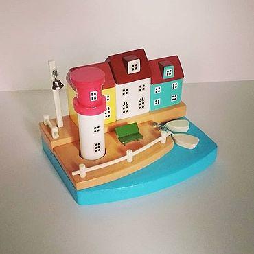 Для дома и интерьера ручной работы. Ярмарка Мастеров - ручная работа Домики, город у моря. Handmade.