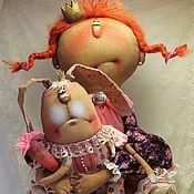 Куклы и игрушки ручной работы. Ярмарка Мастеров - ручная работа Принцесска и Зай с моркофкой!. Handmade.