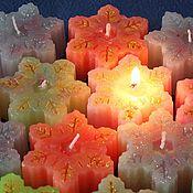 Сувениры и подарки ручной работы. Ярмарка Мастеров - ручная работа свечи Блестящие снежинки. Handmade.
