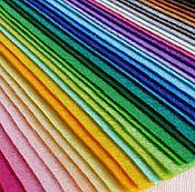Материалы для творчества ручной работы. Ярмарка Мастеров - ручная работа Фетр жесткий 2 мм 30х30 см 19 цветов В наборе и поштучно. Handmade.