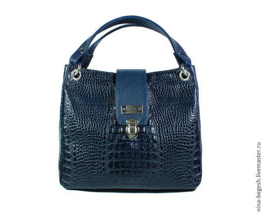 """Женские сумки ручной работы. Ярмарка Мастеров - ручная работа. Купить Сумка кожаная """"Синий космос"""", кожаная сумка, синяя сумка. Handmade."""