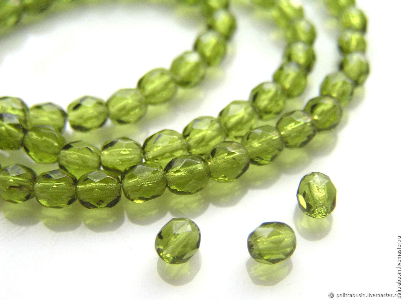 Glass beads Czech Republic 4 mm, Beads1, Tyumen,  Фото №1