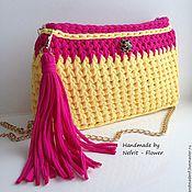 "Сумки и аксессуары handmade. Livemaster - original item Knitted bag on a chain ""Sunny day"". Handmade."