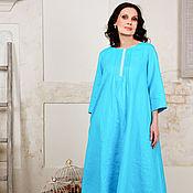 Платья ручной работы. Ярмарка Мастеров - ручная работа Платье льняное Бирюзинка 2. Handmade.