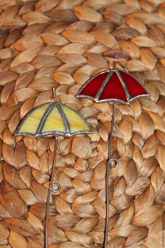 Украшения для цветов ручной работы. Ярмарка Мастеров - ручная работа. Купить Зонтик. Handmade. Желтый, зонтик, декоративный элемент, проволока