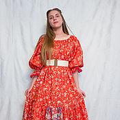 """Одежда ручной работы. Ярмарка Мастеров - ручная работа Лоскутное платье  """"Коралловое настроение"""". Handmade."""