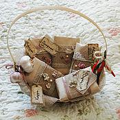 Подарки к праздникам ручной работы. Ярмарка Мастеров - ручная работа Корзиночка со специями. Handmade.