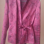 Винтаж ручной работы. Ярмарка Мастеров - ручная работа Блузка в пижамном стиле Женевьева 44-46. Handmade.