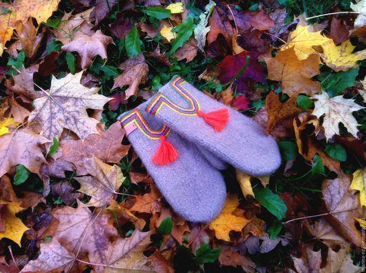 Варежки, митенки, перчатки ручной работы. Ярмарка Мастеров - ручная работа. Купить Варежки. Handmade. Коричневый, подарок на любой случай