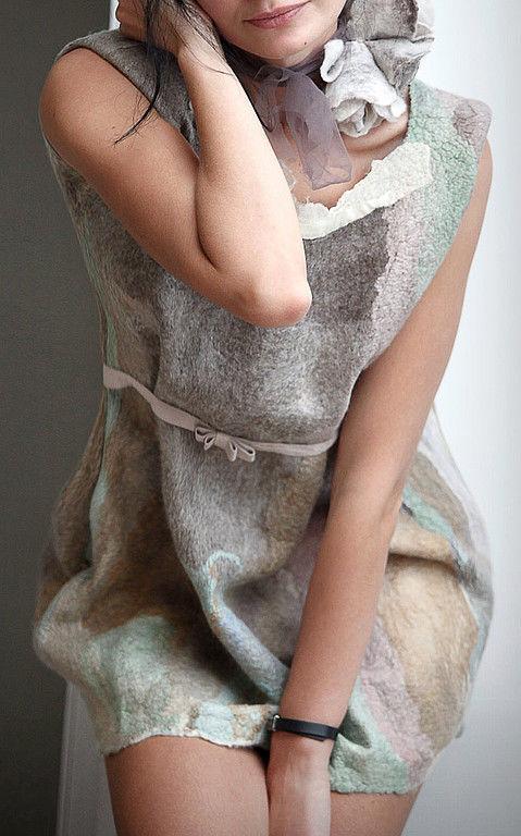 Платья ручной работы. Ярмарка Мастеров - ручная работа. Купить romantic you. Handmade. Эко, романтика, пастель, бежевый, акварель