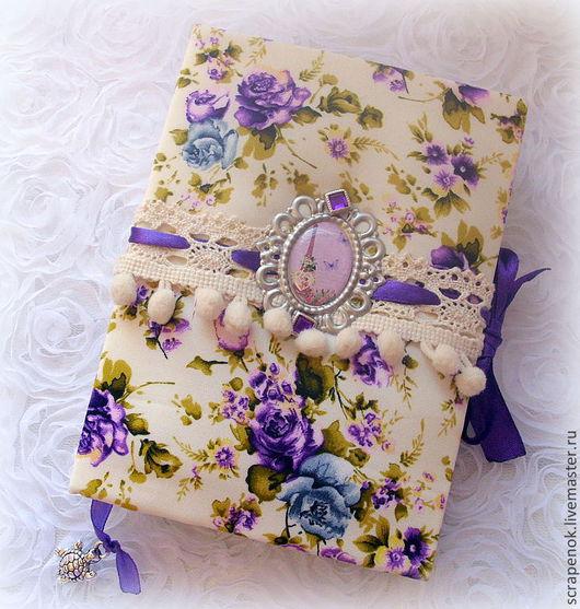 """Блокноты ручной работы. Ярмарка Мастеров - ручная работа. Купить """"Сиреневый туман"""" - красивый блокнот ручной работы. Handmade. Фиолетовый"""