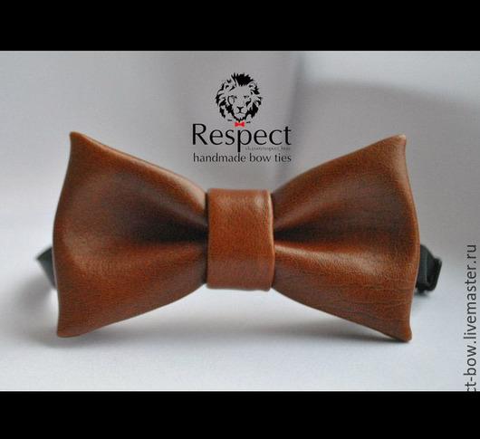 Галстуки, бабочки ручной работы. Ярмарка Мастеров - ручная работа. Купить Галстук бабочка Шатенка / кожзам, темно рыжая бабочка галстук купить. Handmade.
