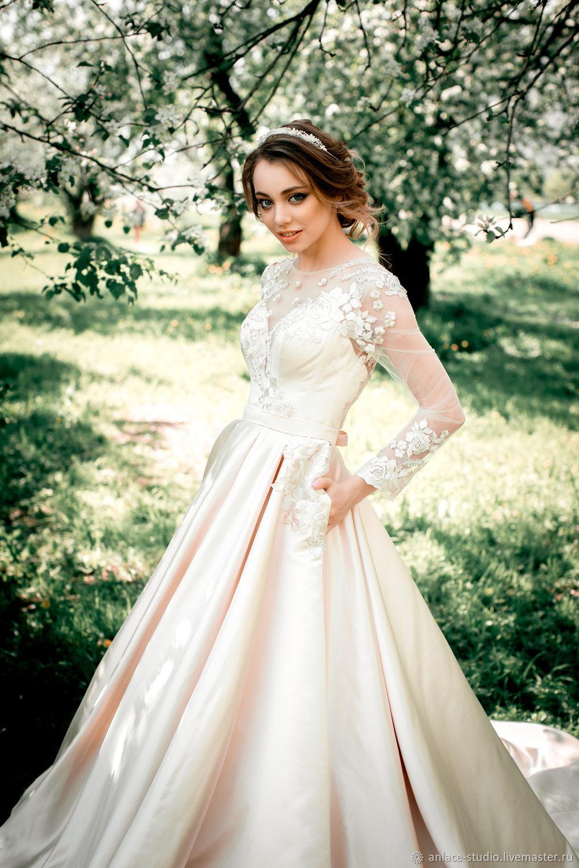 Свадебное платье атласное, Платья, Москва,  Фото №1