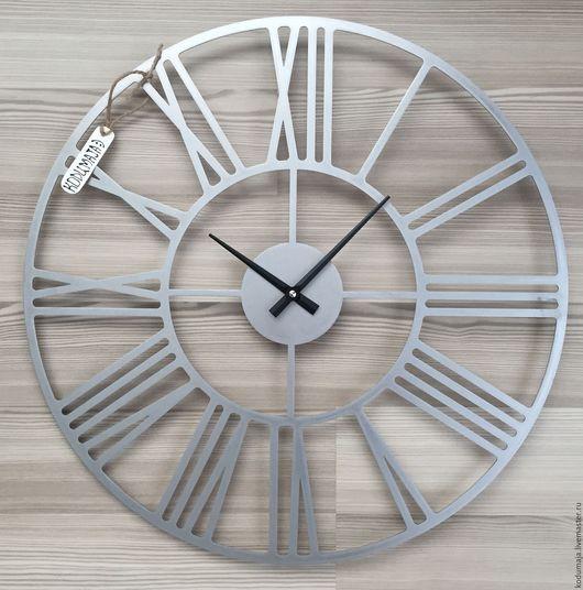 """Часы для дома ручной работы. Ярмарка Мастеров - ручная работа. Купить Часы 50 см из нержавейки """"Rooma-aisi"""". Handmade."""